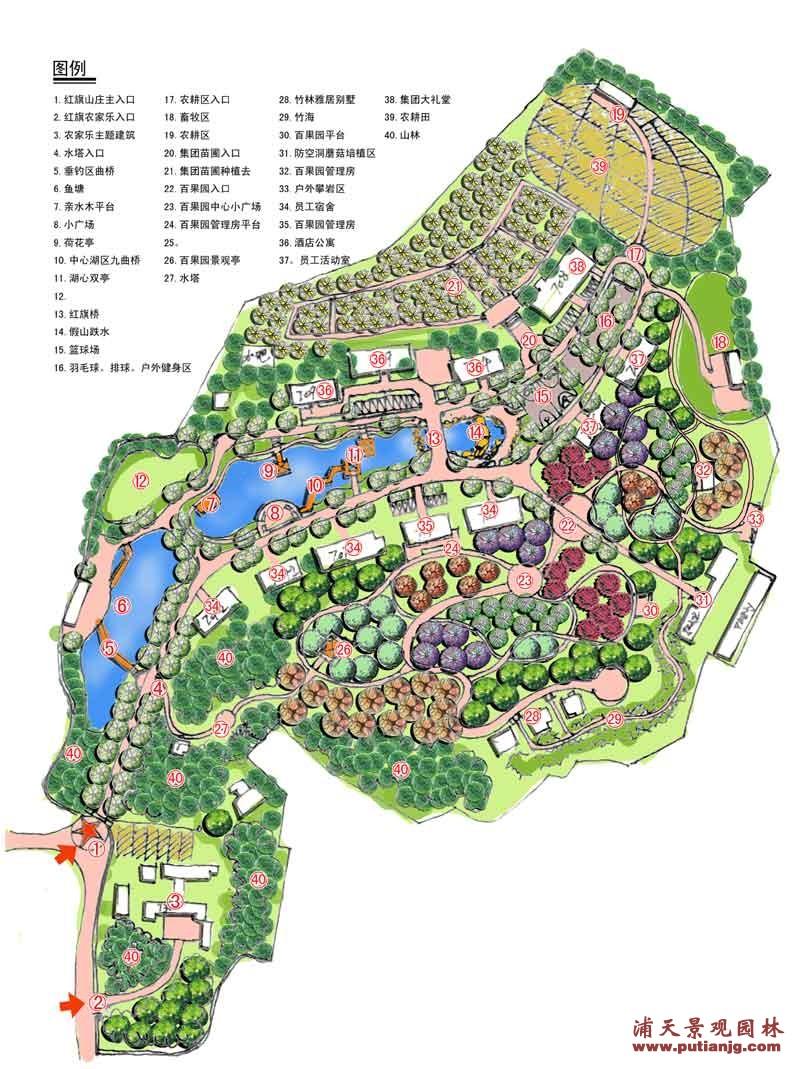 邵阳山庄园林设计案例1 设计建造 图库 湖南浦天景观园林